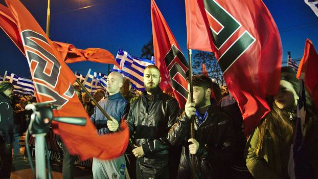 Golden Dawn members in Athens, March 2015