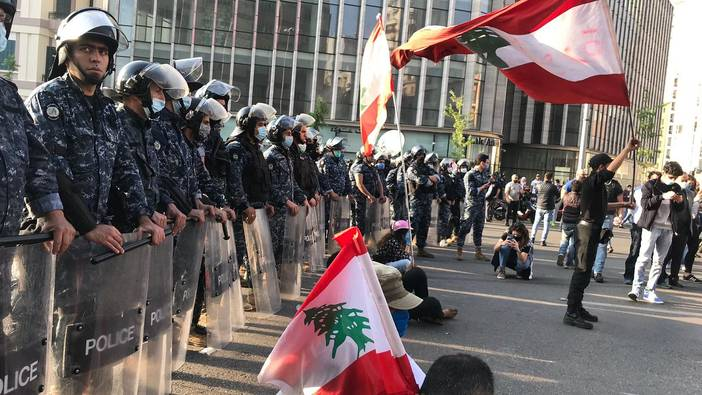Protest in Beirut 2020 (Foto: Doha Hassan)