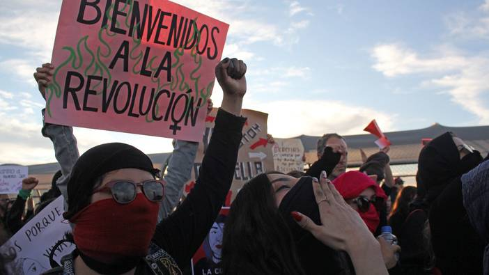 Feministische Demonstration in Mexiko