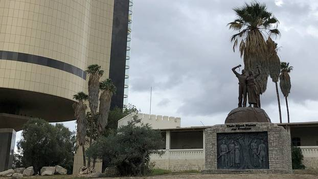 Independence museum and genocidal statue in Windhoek