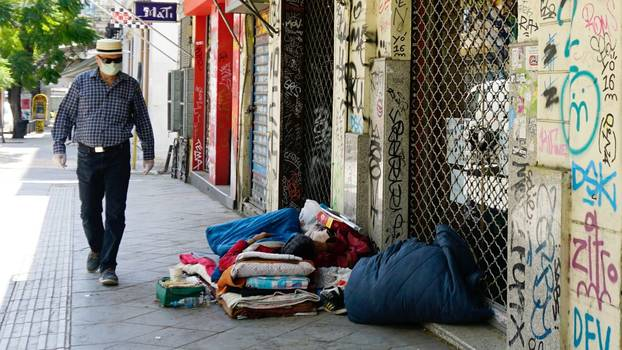 Homeless people in Athens in times of the Corona crisis