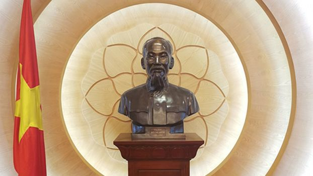 Ho Chi Minh bust in a meeting room of the national assembly