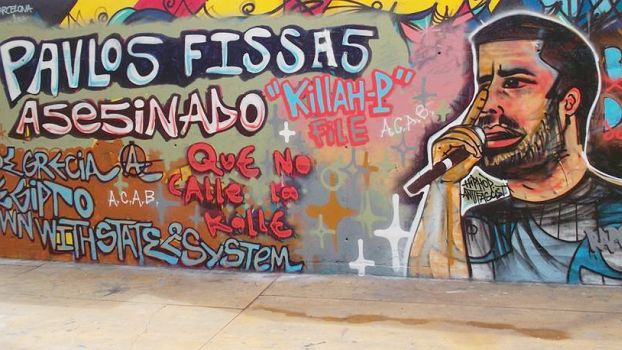 Graffiti from Barcelona in memory of Pavlos Fyssas