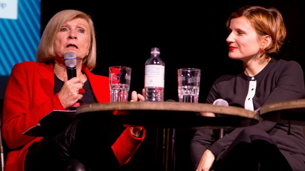 Chantal Mouffe und Katja Kipping, Berlin 2018