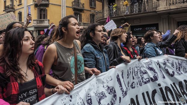 Frauenstreik in Madrid, 8. März 2018