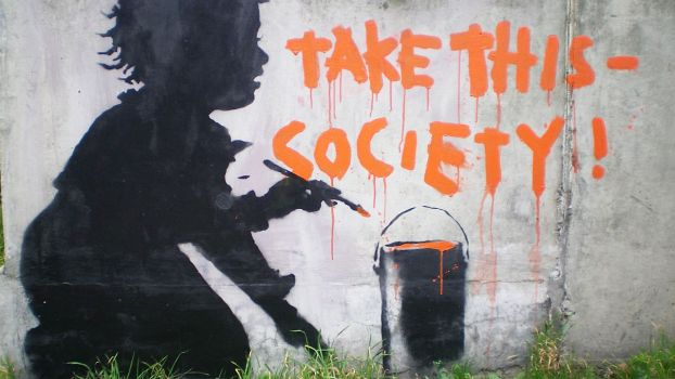 Banksy: Take This - Society!