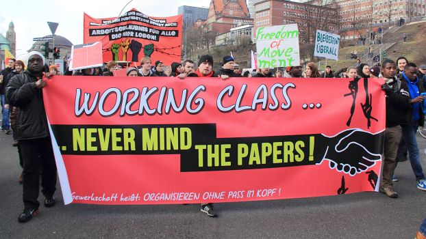 Never mind the papers - Recht auf Stadt | Demonstration in Hamburg, 31.1.2015