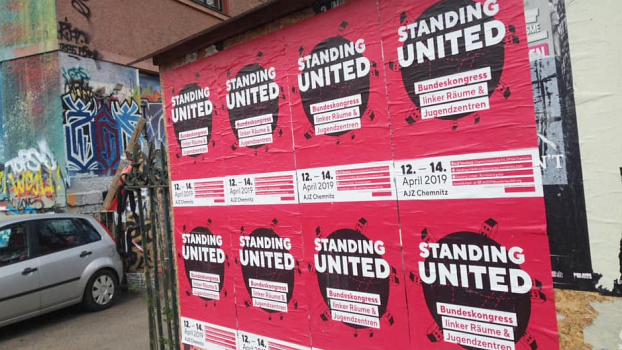 Standing United – Bundeskongress linker Räume und Jugendzentren