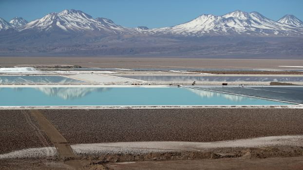 Lithium-Mine in der Atacama-Wüste, Chile