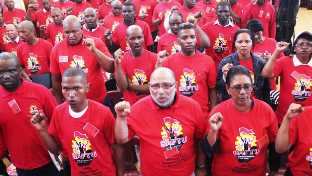 Die linke «South Africa Federation of Trade Unions» (SAFTU)